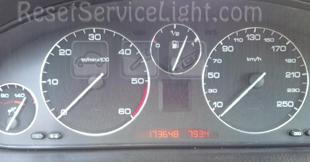 Reset service light indicator Peugeot 607