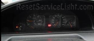 Reset service light indicator Peugeot 806