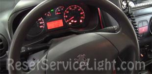 Reset service light indicator Peugeot Bipper