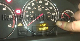Reset service light interval Opel Signum