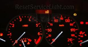 Reset spanner service light indicator Peugeot 2D 206 CC