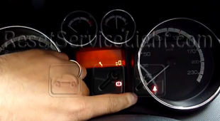 Reset spanner service light indicator Peugeot 308 4A