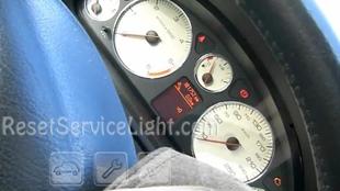 Reset spanner service light indicator Peugeot 407 SW 6E