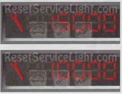 Reset wrench service light indicator Peugeot 2D 206 CC manual