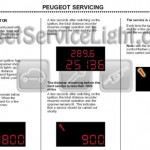 Reset wrench service light indicator Peugeot 307 manual