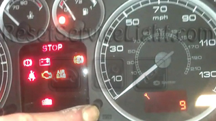 Reset wrench service light indicator Peugeot 307
