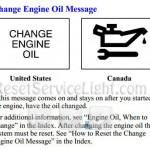 Change engine oil message Pontiac Montana