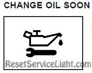 Change oil soon indicator Pontiac Grand Prix 2004