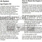 Reset oil service light Pontiac G6 2006-2010 manual