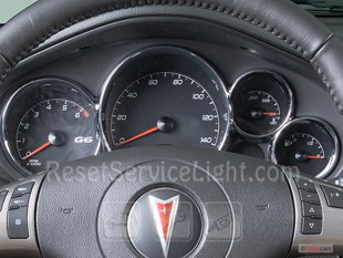 Reset oil service light Pontiac G6