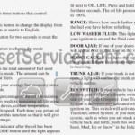 Reset oil service light Pontiac Grand Prix 1998 manual 1