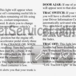Reset oil service light Pontiac Grand Prix 1998 manual 2