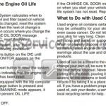 Reset oil service light Pontiac Grand Prix 2007 manual