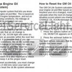 Reset oil service light Pontiac Grand Prix seventh generation manual