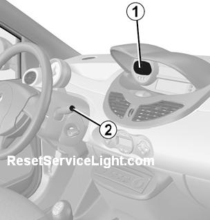 Change instrument panel from miles to km per h on a Renault Twingo