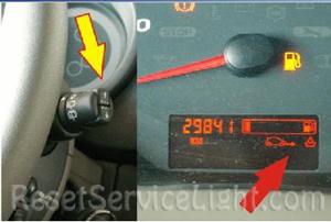 Reset service light indicator Renault Kangoo