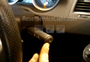Reset service light indicator Renault Megane 2 button on the end of the wiper stalk