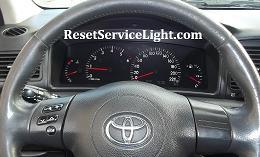 Reset oil service light indicator Toyota Corolla tenth generation E140