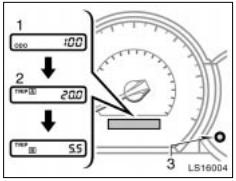 Reset odometer and two trip meters Toyota Tacoma 2 generation
