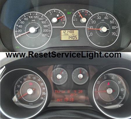 Reset service spanner indicator Fiat Grande Punto