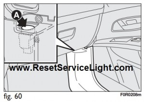 Reset the fuel cutoff switch Fiat Linea 2007-2015