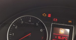 Turn off airbag lamp Audi A4 B6