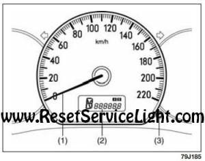 Reset the trip meter to zero Fiat Sedici