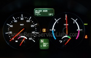 Reset service light Volvo C30