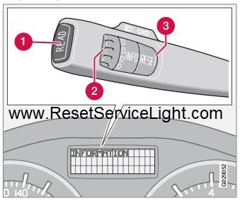 Reset the odometer display Volvo C30