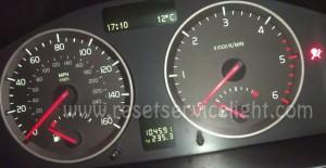 Turn off maintenance light Volvo S40