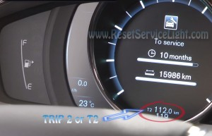Turn off maintenance warning indicator Volvo S80