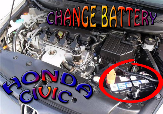 DIY replace the battery on Honda Civic year 2006-2011