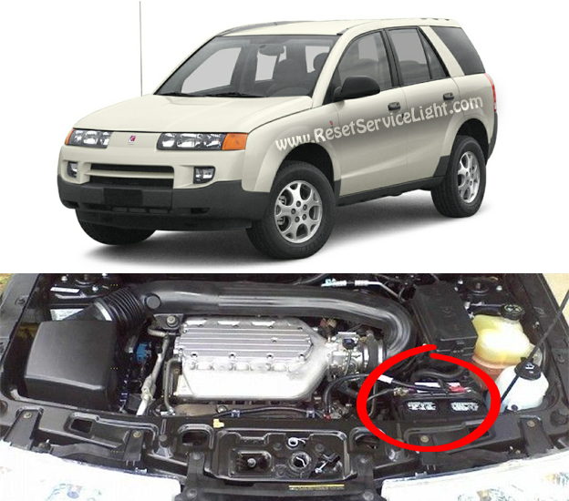 DIY replace battery on Saturn Vue made in year 2002-2007