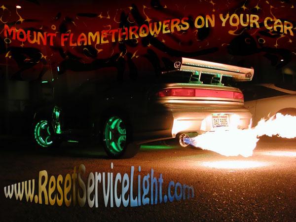 DIY mount flamethrowers on your car