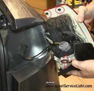 remove the tail light assembly on Audi A4 2007