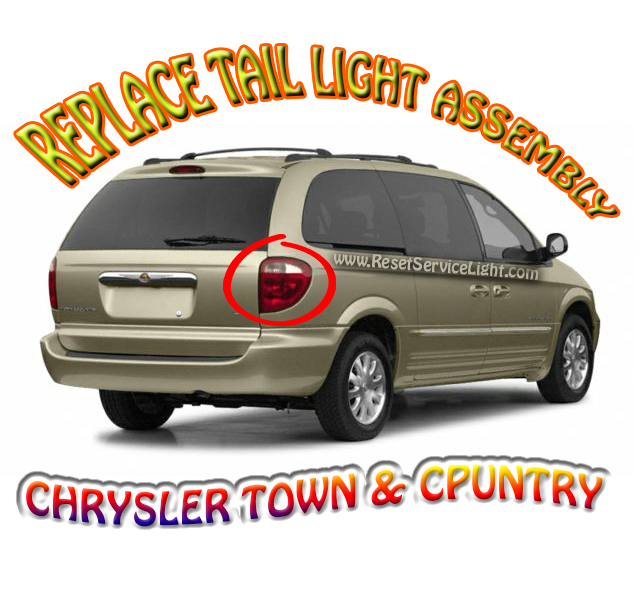 Replace back tail light assembly on Chrysler Town & Country 2002