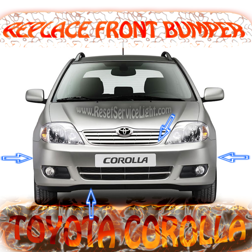 Change the front bumper on a Toyota Corolla 2003-2008
