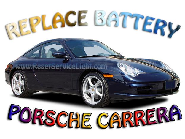 DIy change the battery on Porsche Carrera 996 year 1999-2004