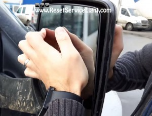 fix the glass of the mirror on Ford Transit