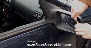 remove the mirror broken glass on Opel-Vauxhall Bertone