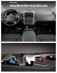 remove the pins of the glove box on Ford Edge