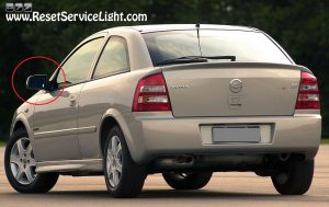 How to replace the glass of the left side mirror on Chevrolet Astra G