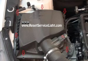 remove the air filter box on Chevrolet Cruze 2008-2015