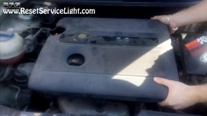 remove the engine cover on Seat Cordoba 2004