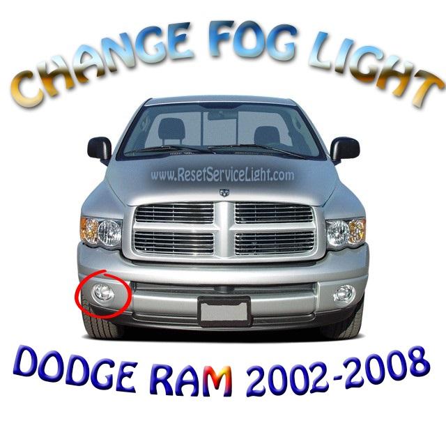 Replace front fog lights on Dodge Ram 1500 2002-2008