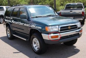 change the front turn signal assembly on Toyota 4Runner 1996-1998