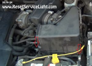 remove the clamps holding the air box on Toyota Rav4 2006-2012