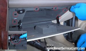 remove-the-glove-box-on-cadillac-cts-2005
