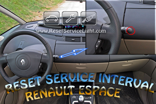 Reset service interval Renault Espace Mk4 2002-2012