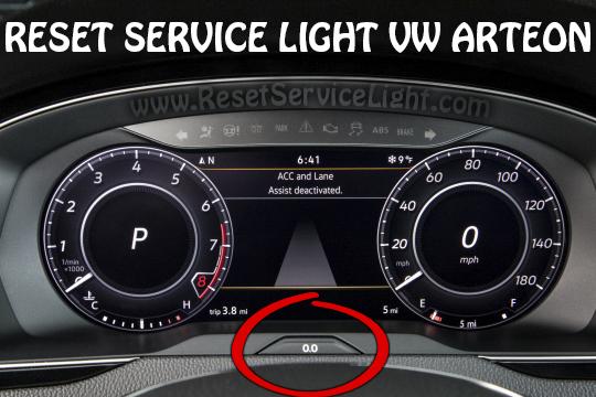 Reset VW Arteon OIL service light